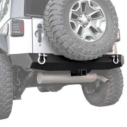 wildrock4x4 Bumpers Rear Bumper Kit W/ Tire Carrier for Jeep Wrangler JK 07-17