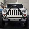 Steel Powder-Coated Front Bumper for Jeep JK 07-17