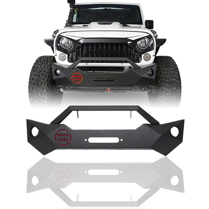 wildrock4x4 Bumpers Stubby Front Bumper for 07-17 Jeep Wrangler JK & JKU
