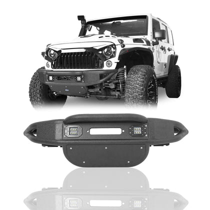 wildrock4x4 Bumpers Stubby Front Bumper for 07-18 Jeep Wrangler JK