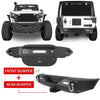 Stubby Front Bumper & Rear Bumper Combo Kit for 07-18 Jeep Wrangler JK JKU