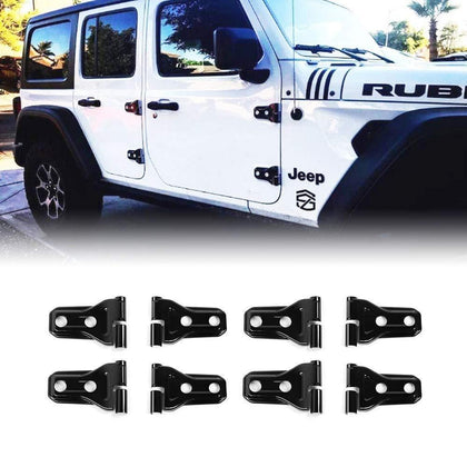 wildrock4x4 Door Parts 4 Door Black Door Hinge Cover for 2/4 Door 18 Jeep Wrangler JL