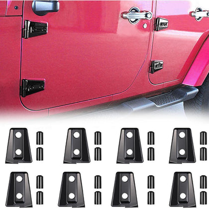 wildrock4x4 Door Parts Door Hinge Covers for 4-Door Jeep Wrangler JK 07-17