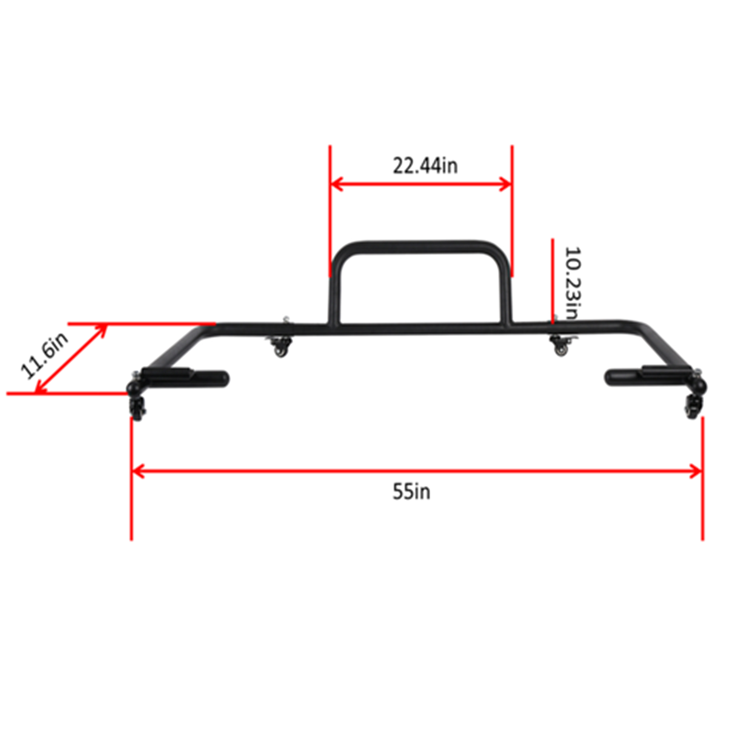 Hard Top Carrier Storage Cart Rack for 1986- 2018 Jeep Wrangler CJ TJ LT JK