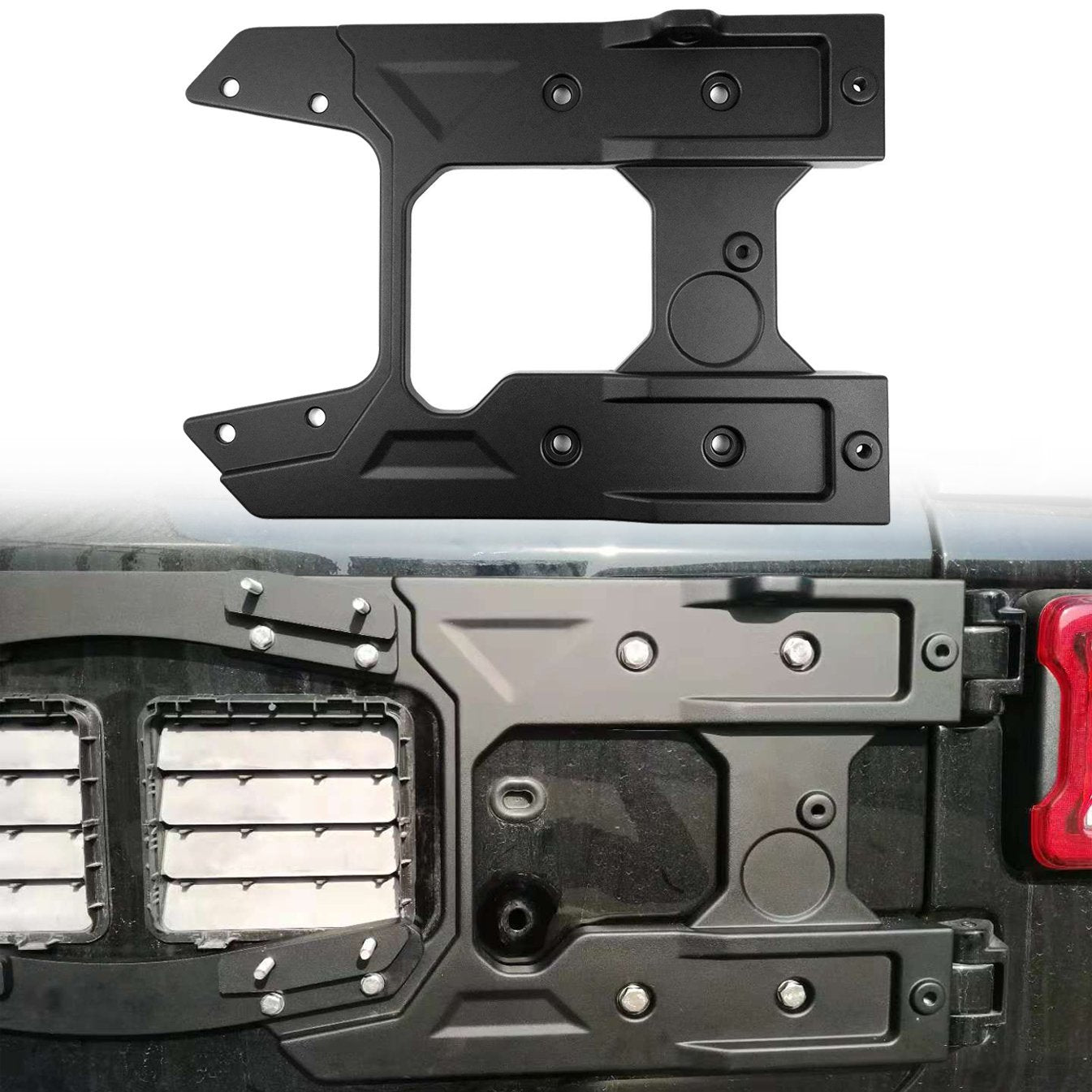 Spare Tire Carrier Tailgate Reinforcement System for 18+ JL