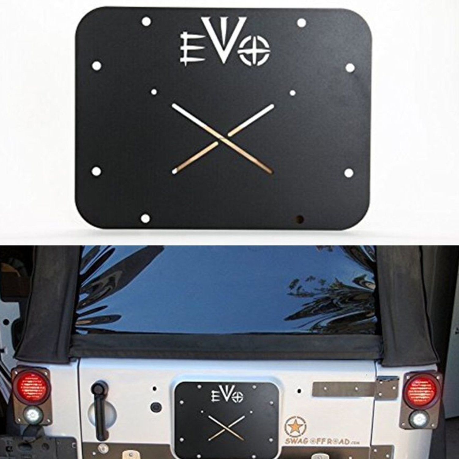Steel EVO Tailgate Vent Plate Cover for 07-18 Jeep JK