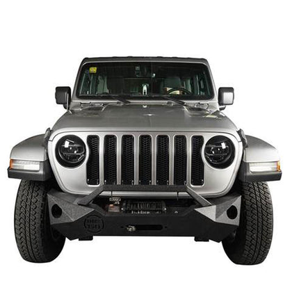 wildrock4x4 Exterior Light Covers Angry Eyes Headlight Bezels for 18-19 Jeep Wrangler JL