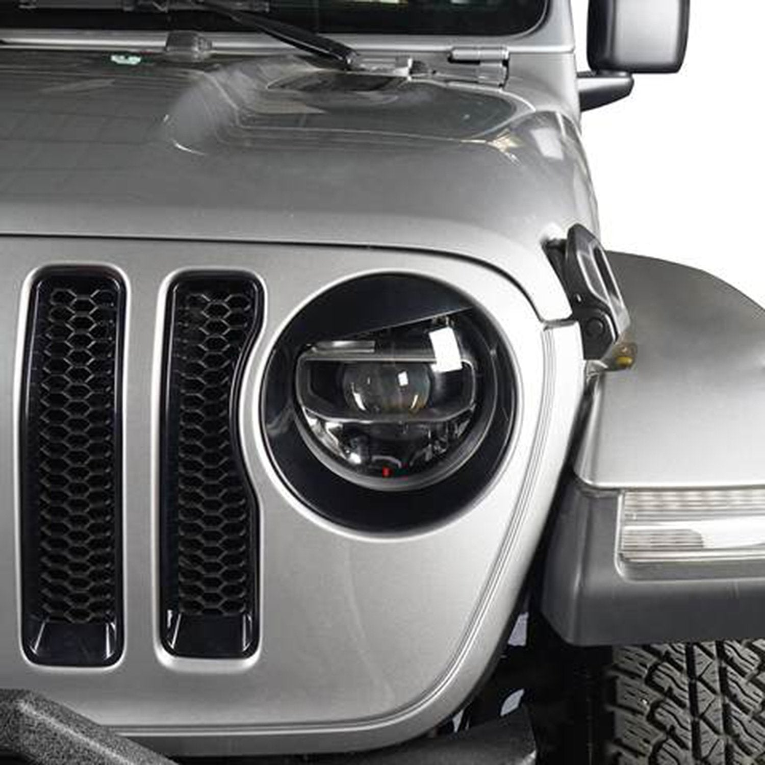 Angry Eyes Headlight Bezels for 18-19 Jeep Wrangler JL