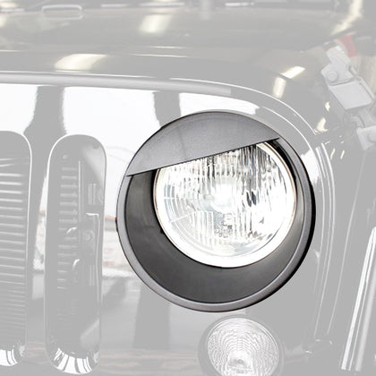 wildrock4x4 Exterior Light Covers Angry Eyes Headlight Bezels for Jeep Wrangler JK 07-17