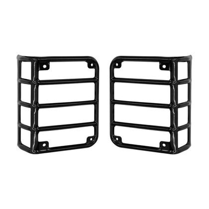 wildrock4x4 Exterior Light Covers Euro Black Taillight Guards for Jeep Wrangler JK 07-17