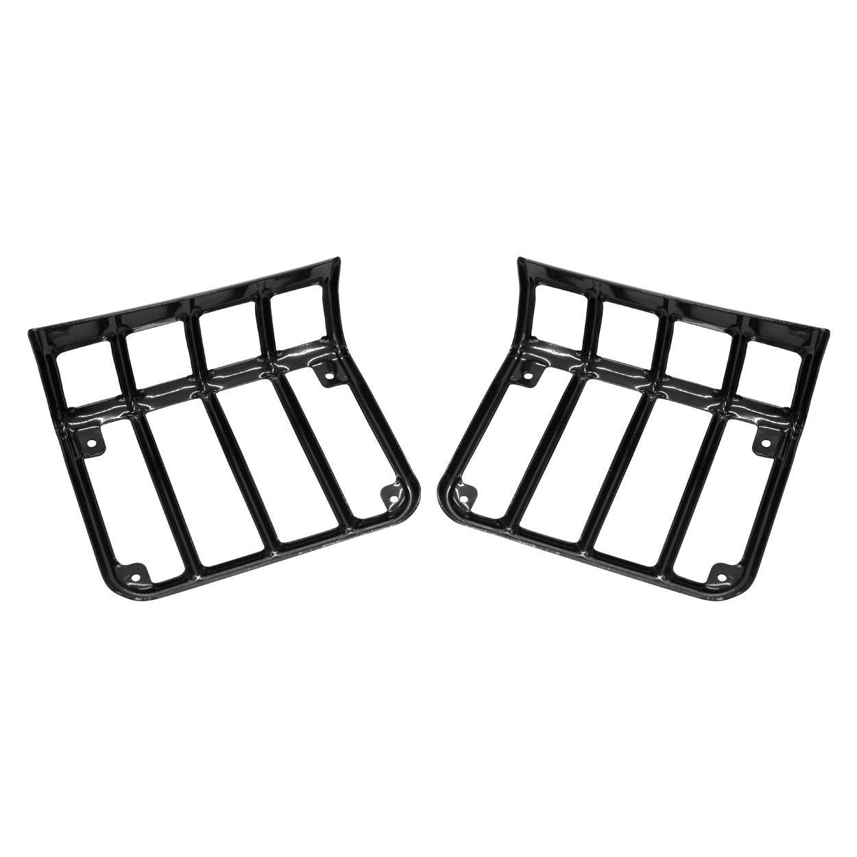Euro Black Taillight Guards for Jeep Wrangler JK 07-17