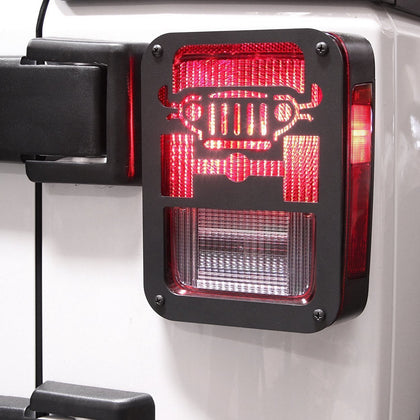 Jeep Style Tail light Cover for Jeep Wrangler JK 07-17-Pair
