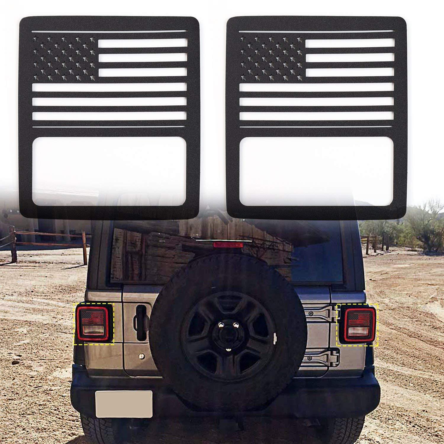 Taillight Cover For 2018 Jeep Wrangler JL Sport/Sports-Flag
