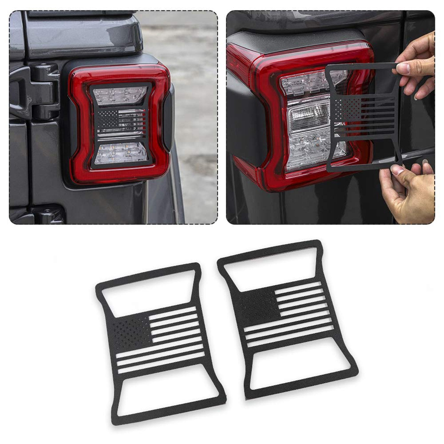 Taillights Cover For 2018 Jeep Wrangler JL-US Flag