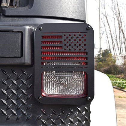 USA Flag Taillight Covers for Jeep Wrangler JK 07-17
