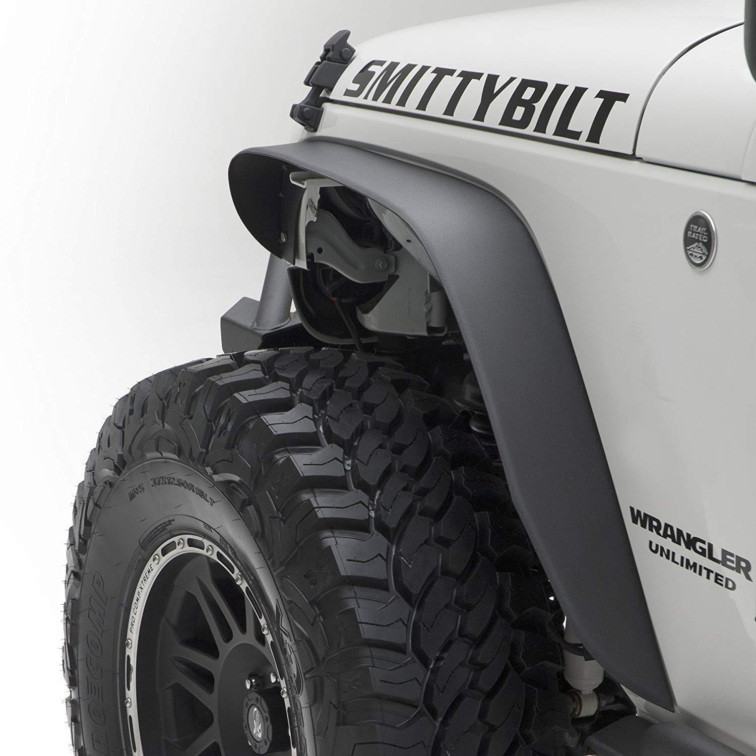 07-17 Jeep Wrangler JK Fender Flares Black Textured