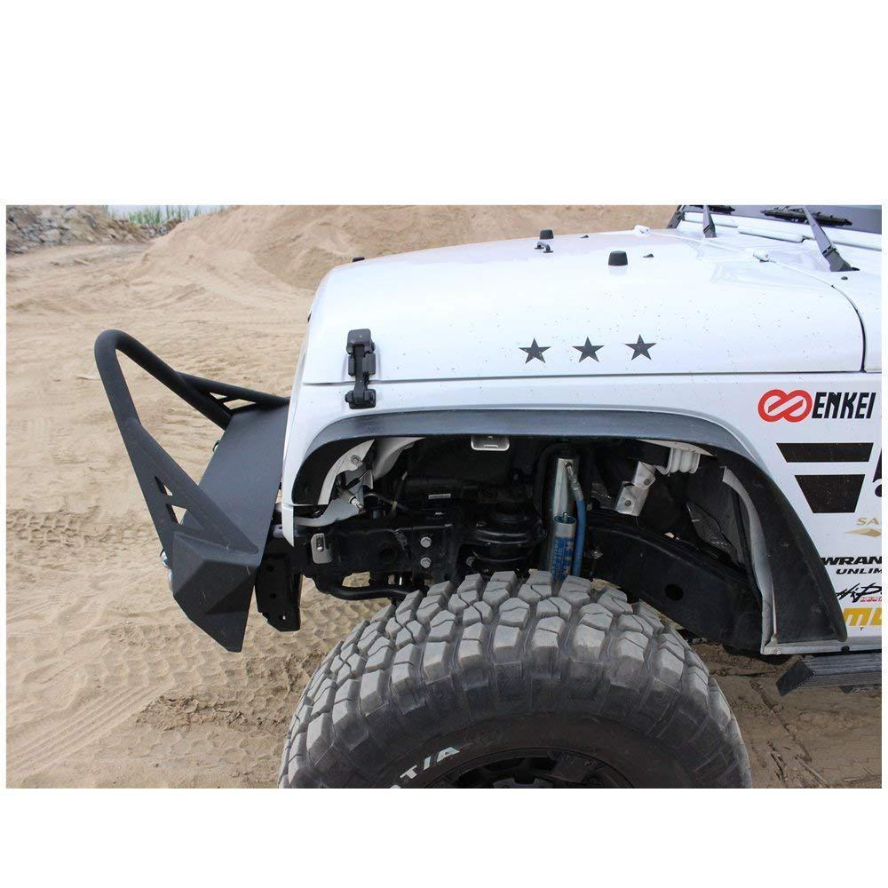 Fender Flares Fit 07-18 Jeep Wrangler JK (Drilling Required)