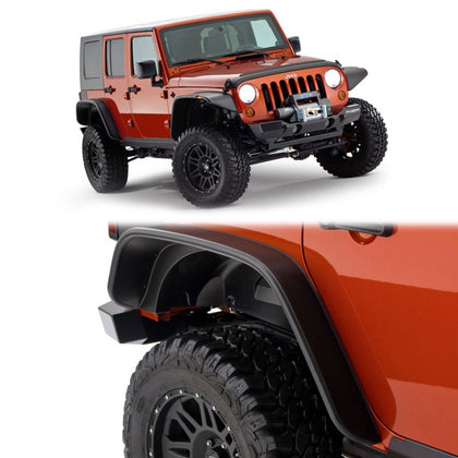 wildrock4x4 Fenders Front & Rear Fender Flares for Jeep Wrangler JK 2007-2018