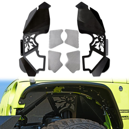 wildrock4x4 Fenders JK Vented Inner Fender Kit for 07-18 Jeep Wrangler JK