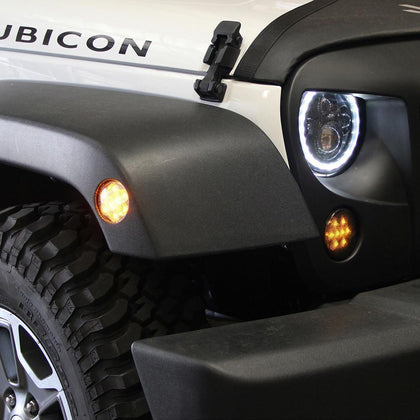 wildrock4x4 Fenders LED Side Marker Fender Lights for 07 - 17 Jeep Wrangler