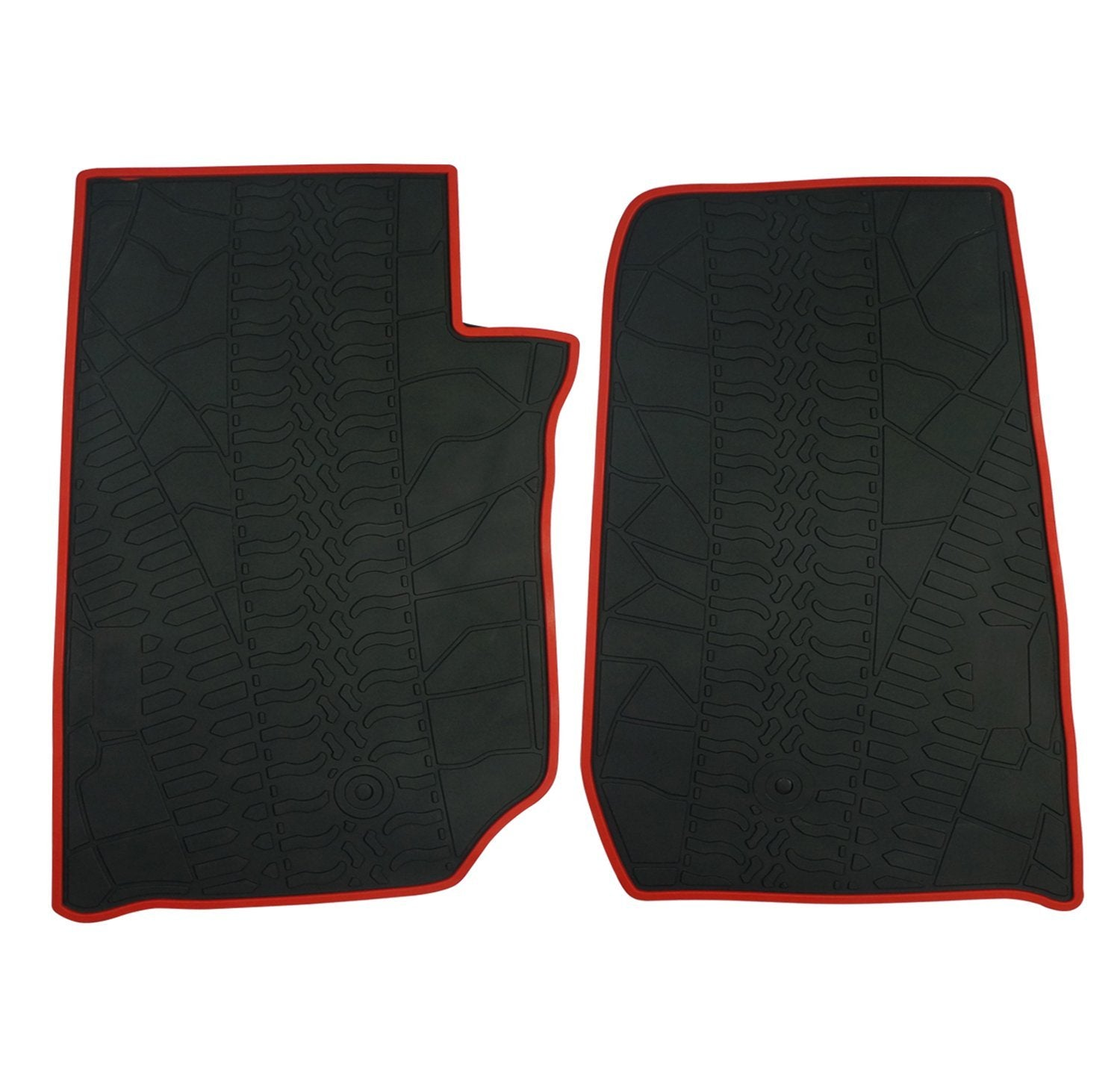 wildrock4x4 Floor Mats 2 door Jeep Wrangler JK 14-17 Runner Floor Mats Set Heavy Duty