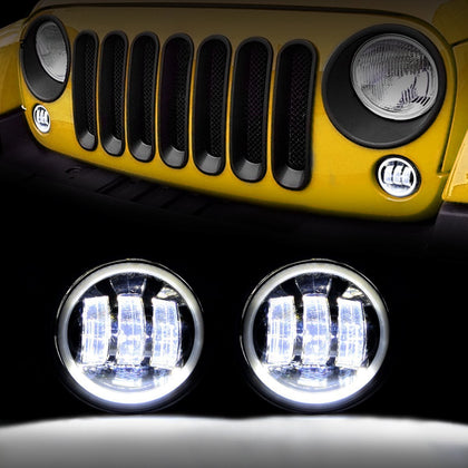 4 inch Halo Ring Angle Eyes LED Fog Lights-Pair