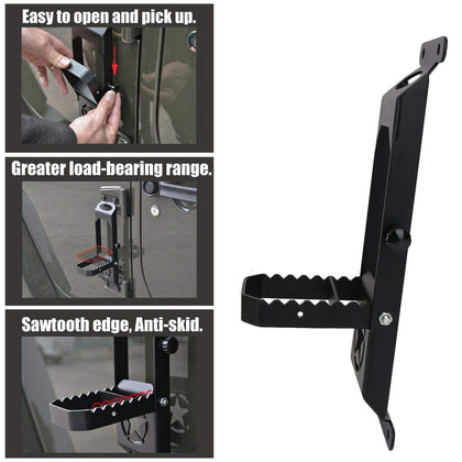 WildRock4x4 Foot Pegs Door Hinge Step Foot Peg for 07-18 Jeep Wrangler JK JL