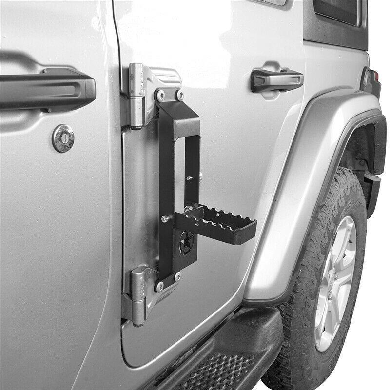 Door Hinge Step Foot Peg for 18-20 Jeep Wrangler JL