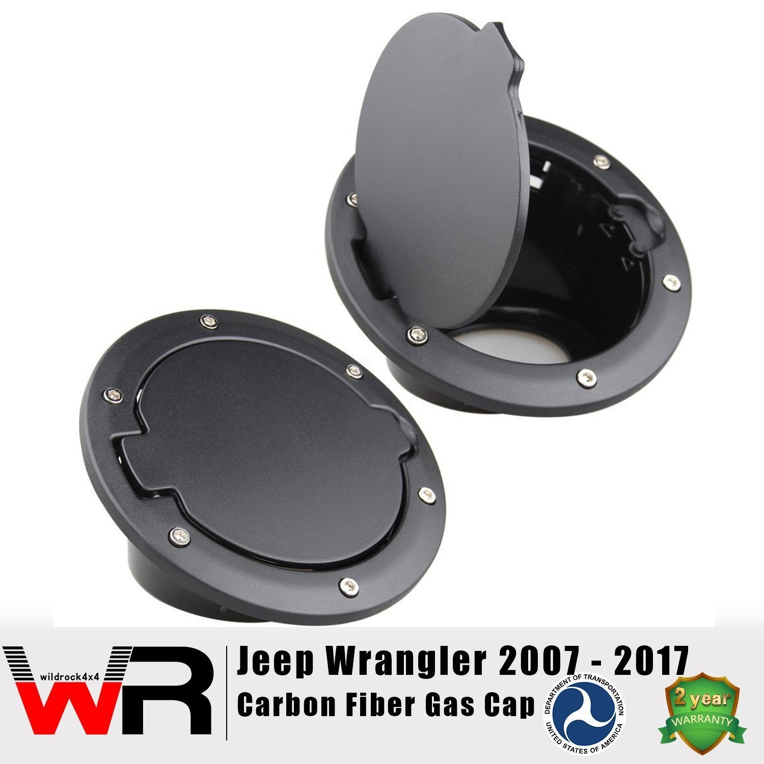 Black Gas Cap for 2&4 Door Jeep Wrangler JK 07-17