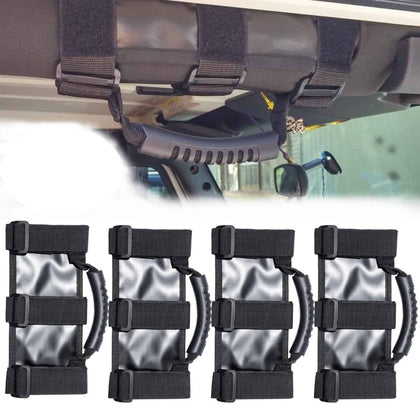 4 x Roll Bar Grab Handles For Jeep Wrangler 1995-2019