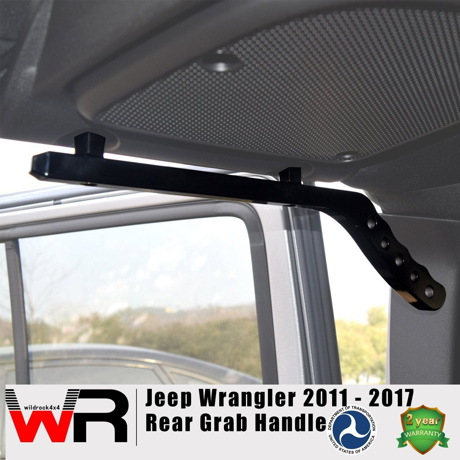 Rear Aluminum Handles for 4 Door Jeep Wrangler 07-17