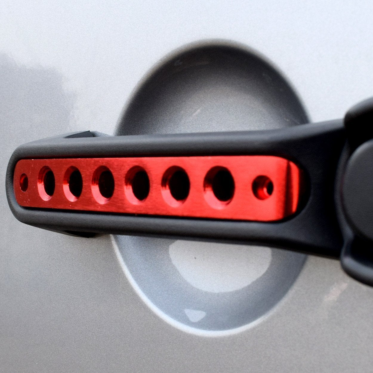 Red Grab Handle Inserts for Jeep Wrangler JK 07-17