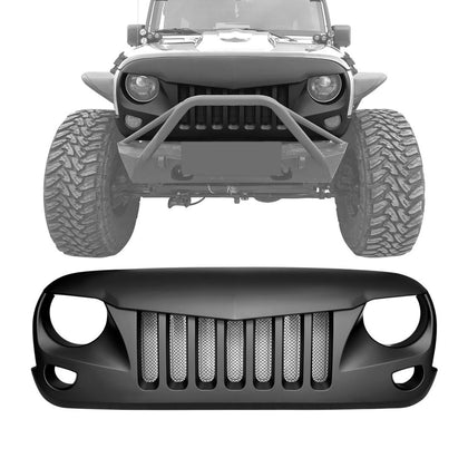 wildrock4x4 Grille Parts Eagle Eye Grille with Built-In Mesh for Jeep Wrangler 07-17