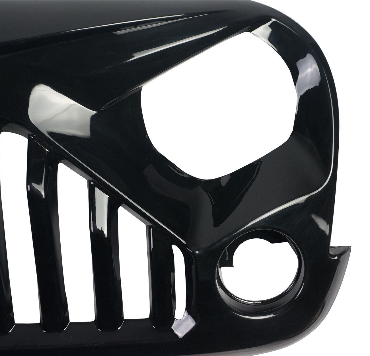 Glossy Black Gladiator Grille for Jeep Wrangler JK 07-17