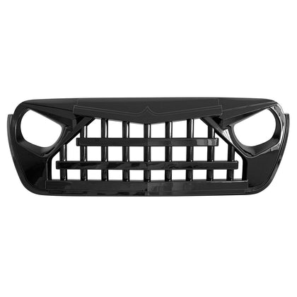 wildrock4x4 Grille Parts Glossy Black Knight Grill For Jeep Wrangler JL 2018-2020 JT Gladiator