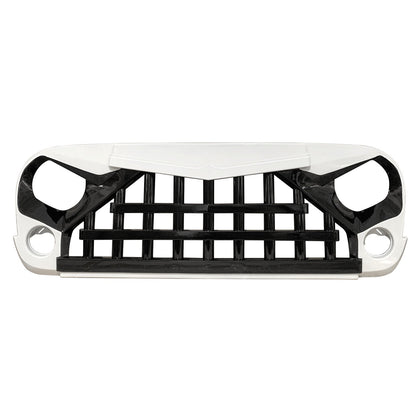wildrock4x4 Grille Parts Glossy White&Black Knight Grill For Jeep Wrangler JK 07-18