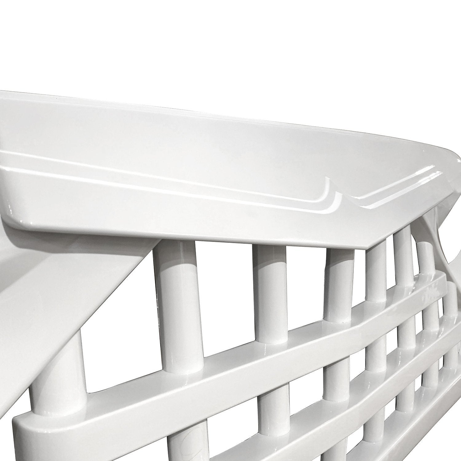 wildrock4x4 Grille Parts Glossy White Knight Grill For Jeep Wrangler JK 07-18