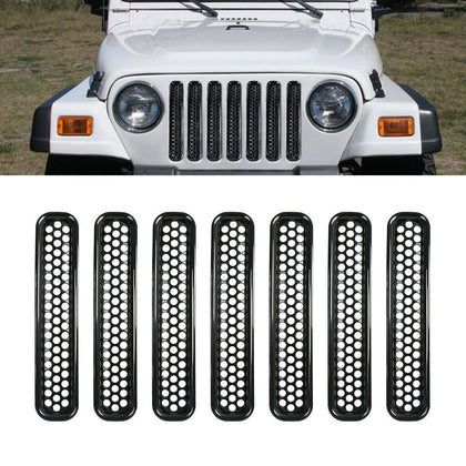 wildrock4x4 Grille Parts Honeycomb Mesh Grill Inserts for 97-06 Jeep TJ Wrangler