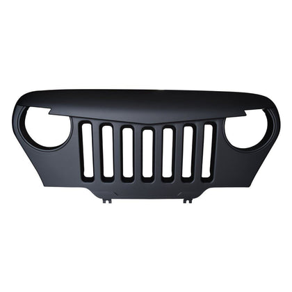 Matte Black Angry Bird Grille for Jeep Wrangler TJ 97-06