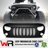 Matte Black Beast Grille Grid Mesh for Jeep Wrangler 07-17