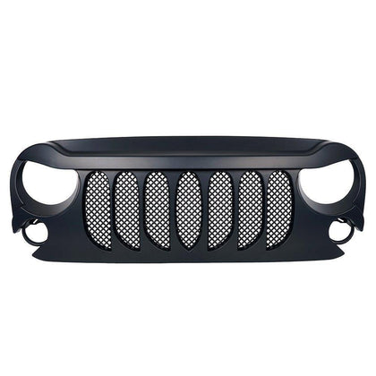 wildrock4x4 Grille Parts Matte Black Beast Grille Grill for Jeep Wrangler  JK 07-17