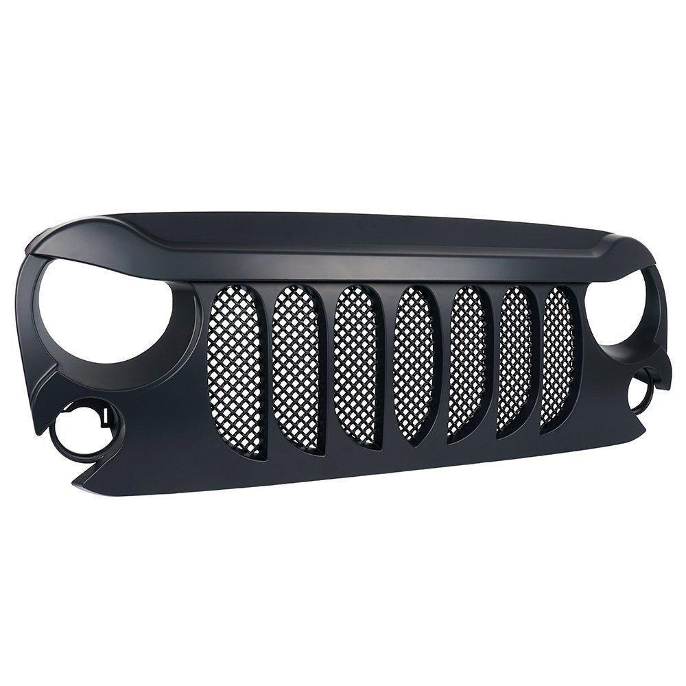 Matte Black Beast Grille Grill for Jeep Wrangler  JK 07-17
