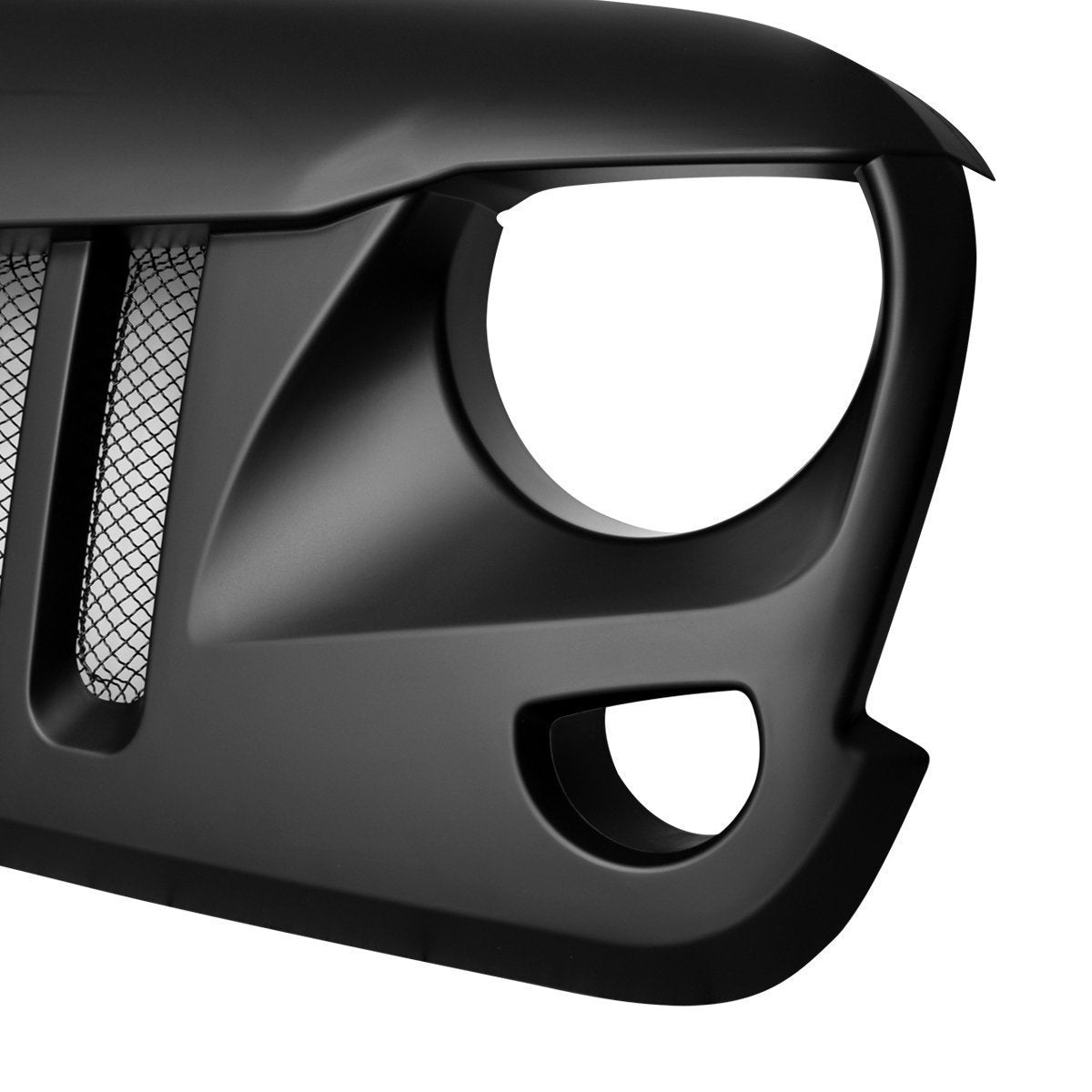 Matte Black Eagle Eye Grille for 07-17 Jeep Wrangler JK