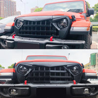 wildrock4x4 Grille Parts Matte Black Knight Grill For Jeep Wrangler JL 2018-2020 JT Gladiator