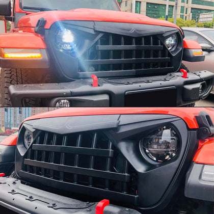 Matte Black Knight Grill For Jeep Wrangler JL 2018-2020 JT Gladiator