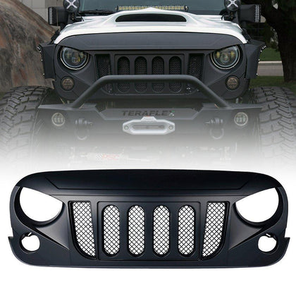 wildrock4x4 Grille Parts Matte Black Transformer Grill for Jeep Wrangler JK 07-18
