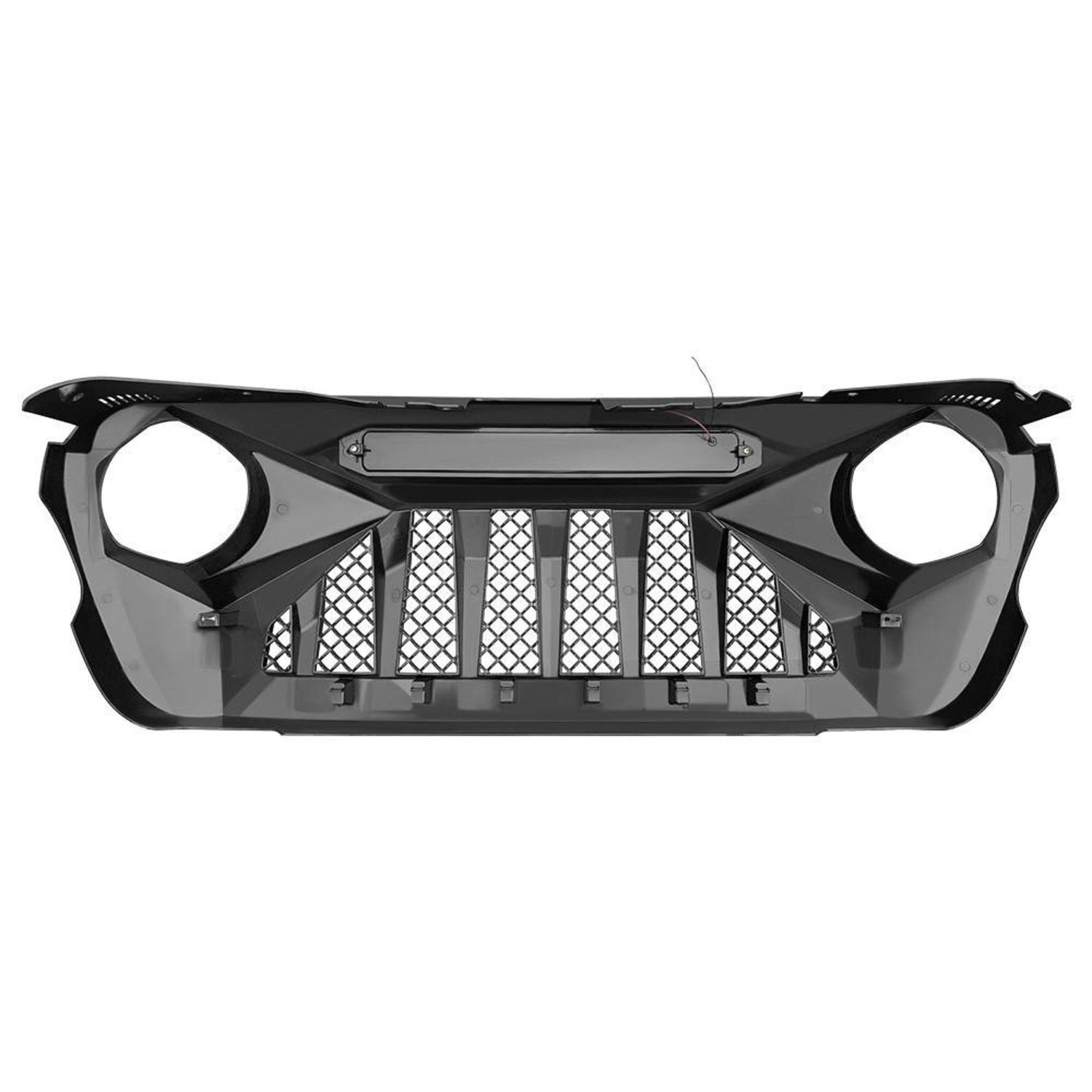 [Pre-Order]Demon Grille w/ White Star DRL for 18-20 Jeep Wrangler JL & Gladiator