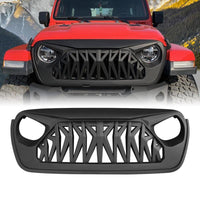 Shark Grille - Matte Black for 07-18-20 Jeep Wrangler JK / JL & JT Gladiator