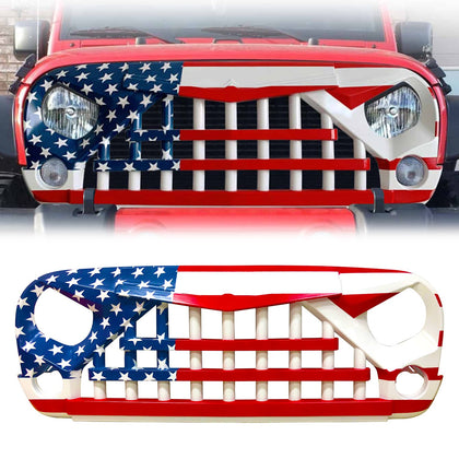wildrock4x4 Grille Parts USA Flag-Knight Grille For Jeep Wrangler JK 07-18