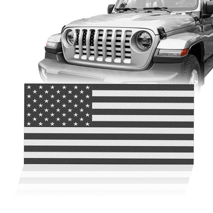 wildrock4x4 Grille Parts USA Flag Mesh Grille Insert for 18-19 Jeep Wrangler JL